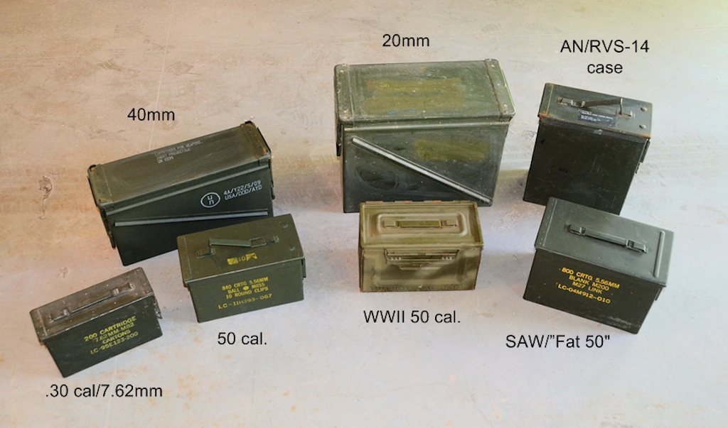 M416 Trailer ammo can camping storage