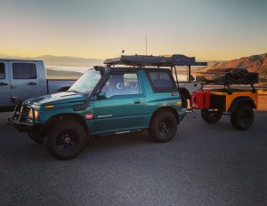 Jeep Trailer Customer Build at Mono Lake