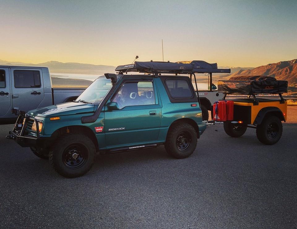 Jeep Trailer Customer Build at Mono Lake