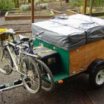 compact camping trailer Explorer Box with bike racks