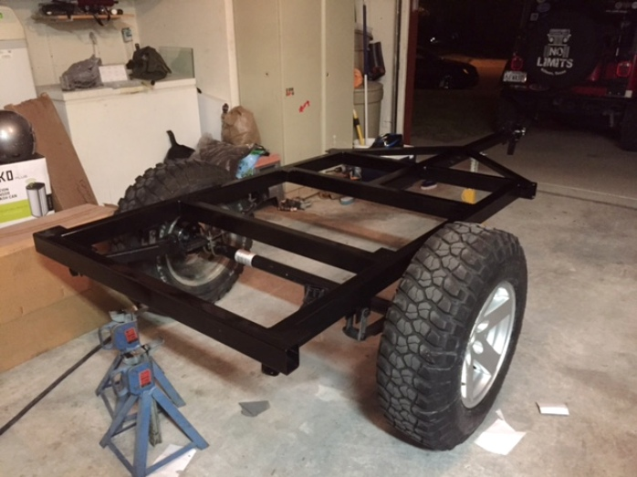 Jeep Trailer Frame Options to build your compact camping trailer