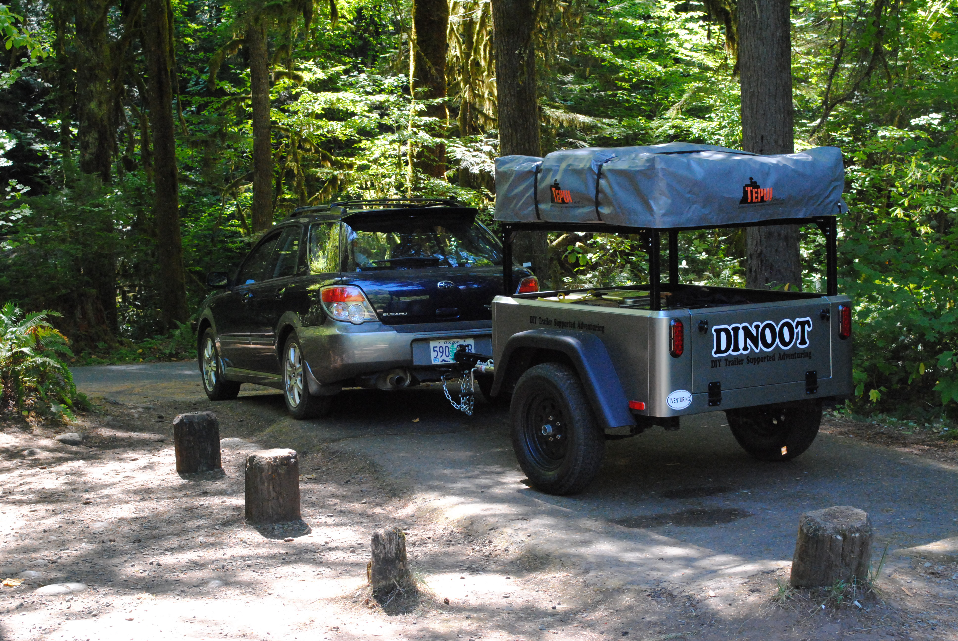 compact camping trailer DIY Jeep Trailer Tub Kit by Dinoot Trailers