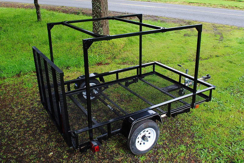 compact camping trailer Multi purpose DIY Trailer with Rack Kit