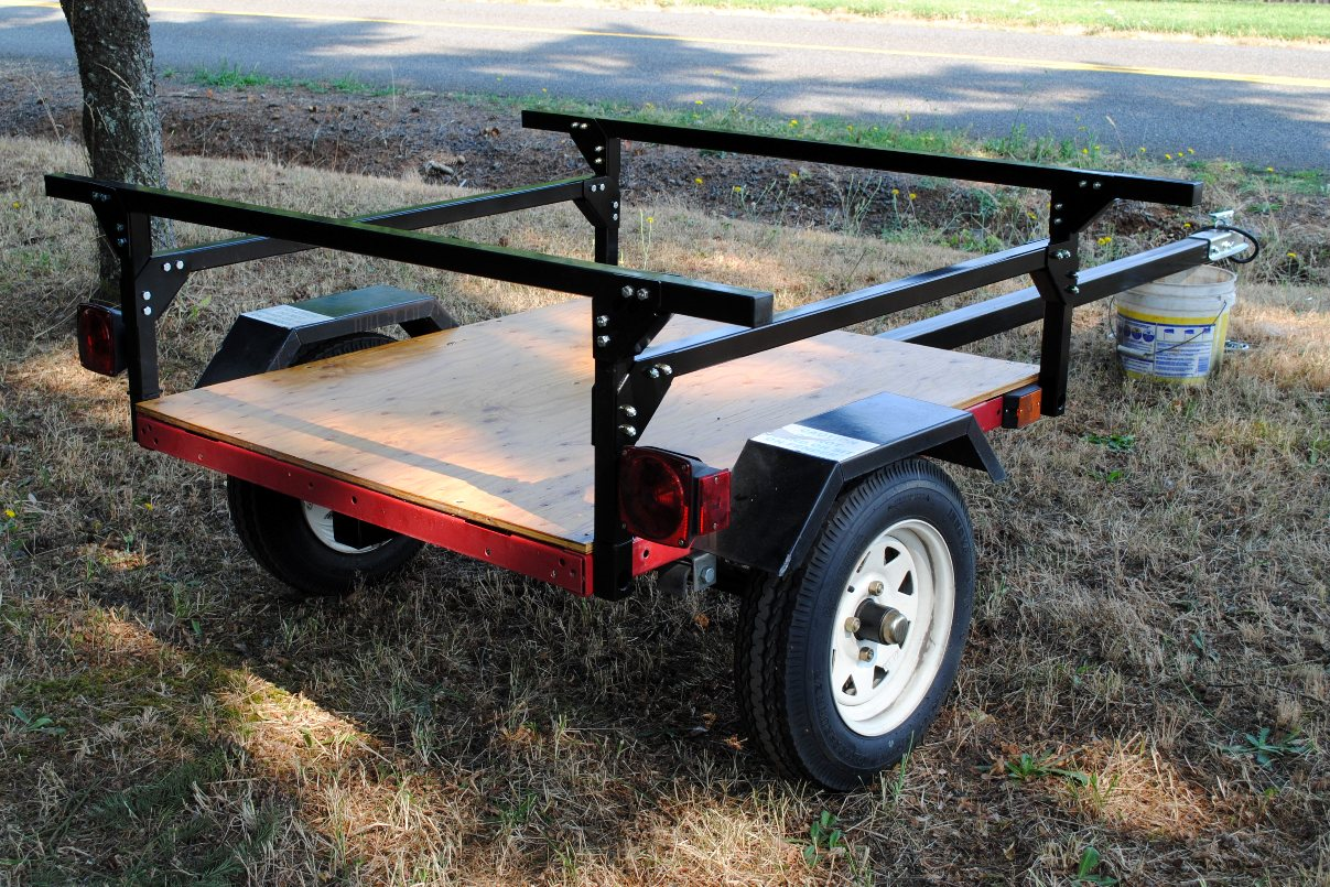 Making A Kayak Trailer For Under 500 Compact Camping Trailers