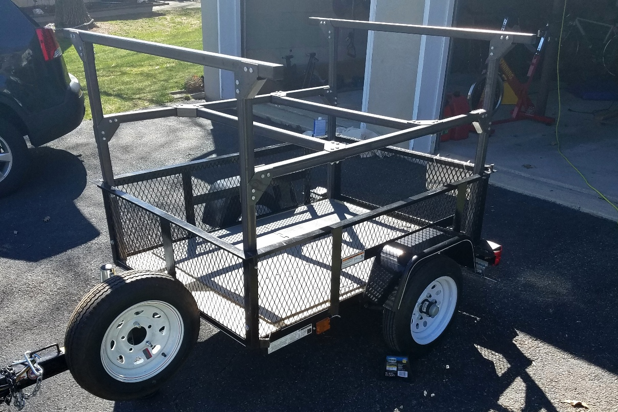 Trailer Racks DIY Triple Decker Build at Home